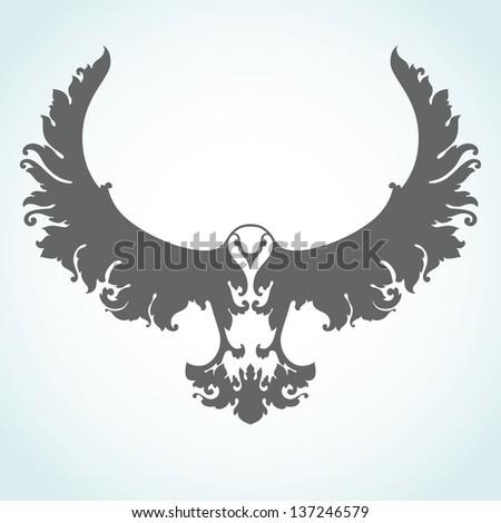 Decorative bird icon - stock vector