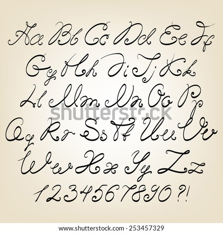 Cursive Alphabet Letters Stock Images, Royalty-Free Images ...
