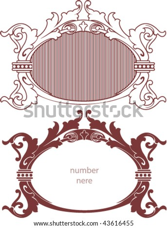 Decorative border, template
