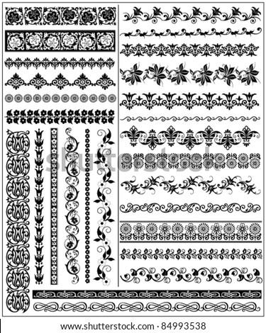 decorative borders 3 - stock vector