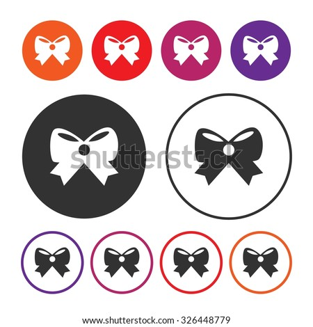 Decorative bow icon. Bow icon. Ribbon icon. Celebration and Party icon. Button. EPS10. Illustration - stock vector