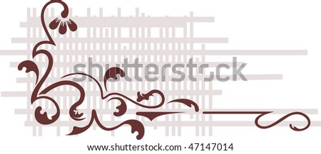 Decorative branch. - stock vector