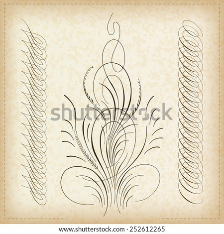 Decorative calligraphy border. - stock vector