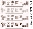 Decorative Celtic border vector elements - stock vector