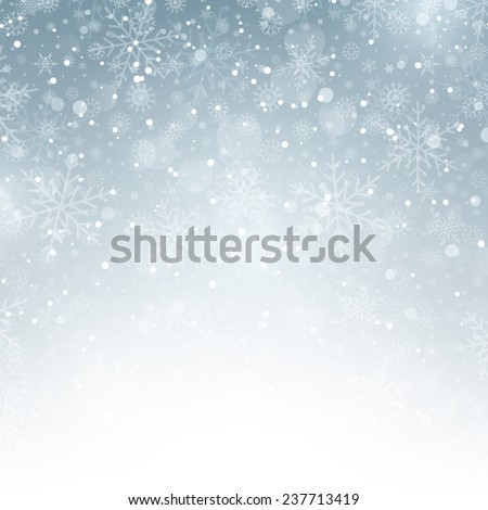 Decorative Christmas background with snowflakes - stock vector