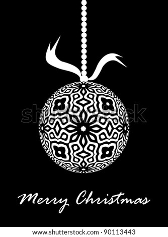 Decorative Christmas Ornament Design (Vector)