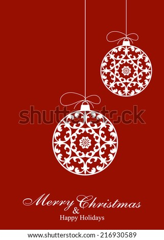 Decorative Christmas Ornaments  Background - stock vector