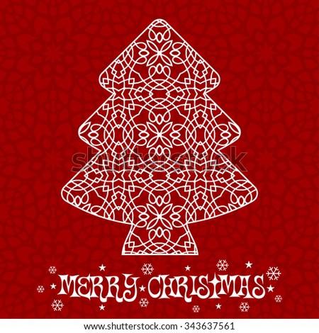 Decorative Christmas Tree Design - stock vector