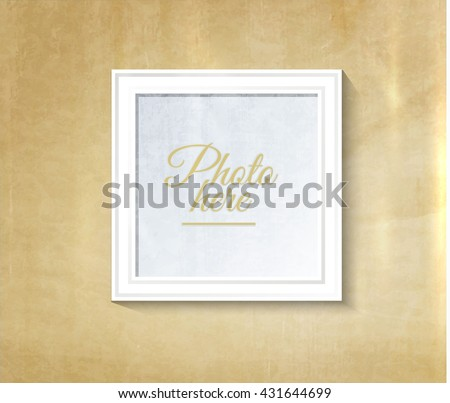 decorative collage photo frame vintage photo frame template on wall for kid and parents