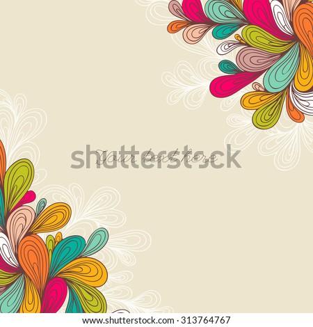 Decorative Color Element Border Abstract Invitation Stock Vector