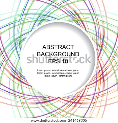 Decorative colored abstract background with stripes - stock vector