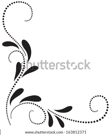 Decorative corner floral ornament - stock vector