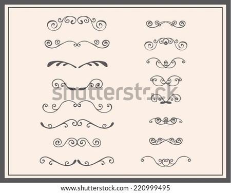 Decorative curl set - stock vector