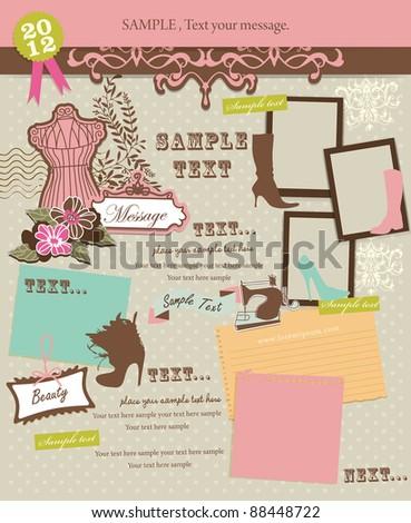 Decorative design elements 4 - stock vector