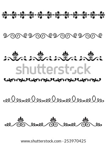 Decorative design elements for Wedding invitation/ anniversary backgrounds can be use to decorate wedding , anniversary, valentines day, mother's day party invitation / cards. - stock vector