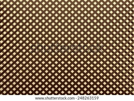 decorative diagonal design pattern for a fence - stock vector