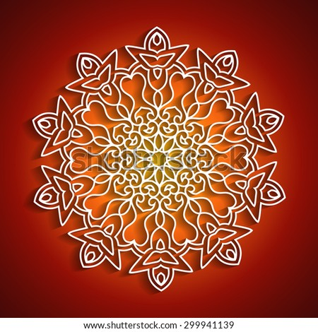 Decorative Diwali Ornament Design - stock vector