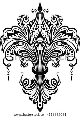 Decorative element I - stock vector