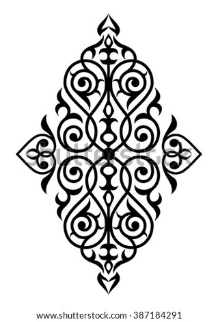 Decorative element traditional damask pattern - stock vector