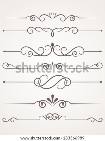 Decorative elements. - stock vector
