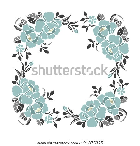 Decorative elements border pattern design - stock vector