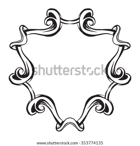 Vector illustration beautiful silver blazon stock vector for A style text decoration