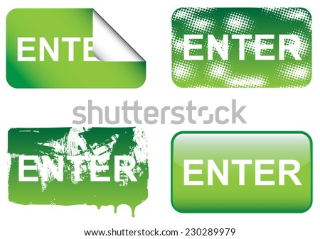 Decorative Enter Sign - stock vector