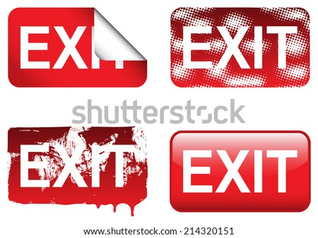 Decorative Exit Sign - stock vector