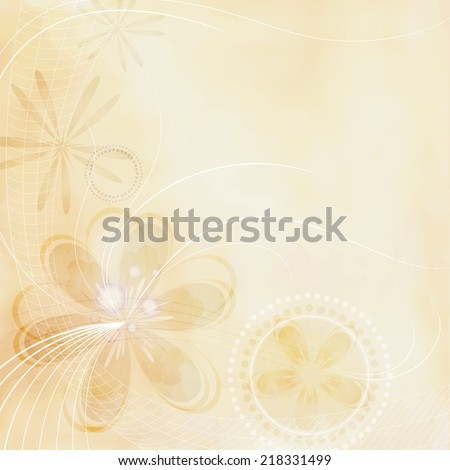 Decorative floral background with grunge effect - stock vector