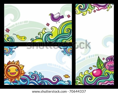 Decorative floral banners collection from floral series (part 1) - stock vector