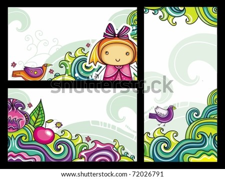 Decorative floral banners collection from floral series (part 2) - stock vector