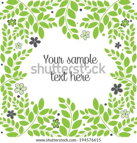 Decorative floral card - stock vector