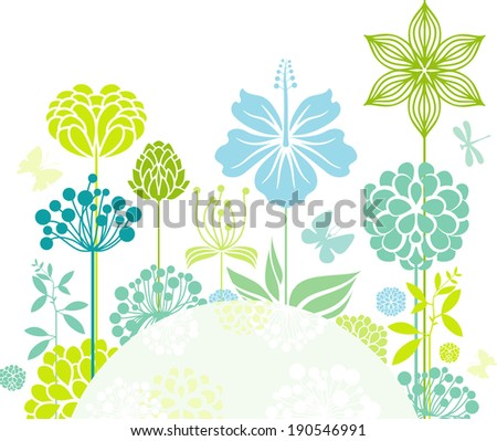 Decorative floral composition - stock vector