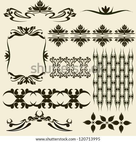 decorative floral design - stock vector