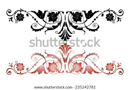 Decorative floral elements for your design - stock vector