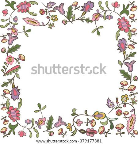 Decorative floral frame  - stock vector