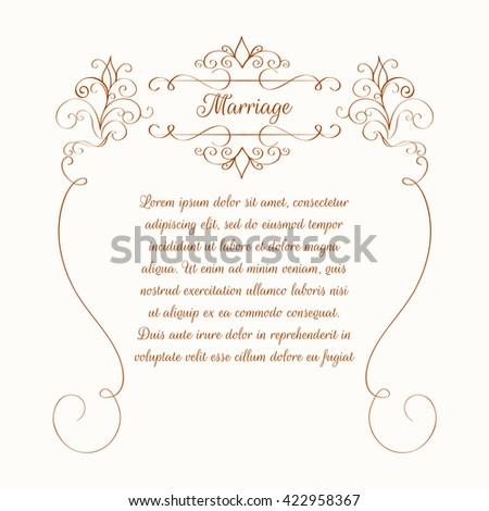Decorative floral frame template greeting cards stock vector template for greeting cards invitation m4hsunfo