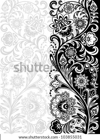 Decorative floral pattern. Retro background. Vector illustration. - stock vector