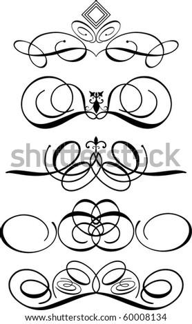 Decorative flourishes - stock vector