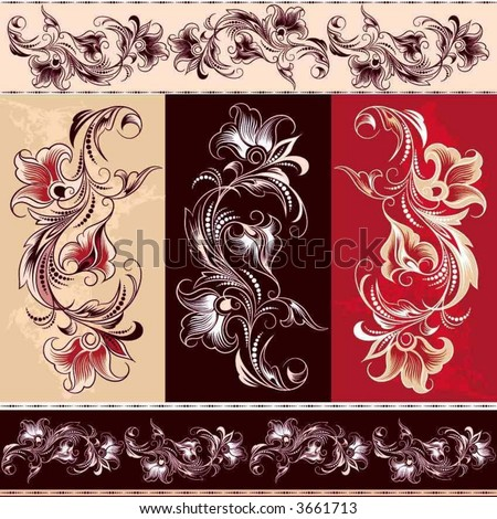 decorative flourishes element - stock vector