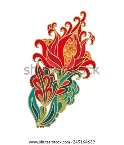 Decorative flower - stock vector