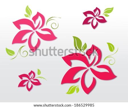 Decorative flowers  - stock vector