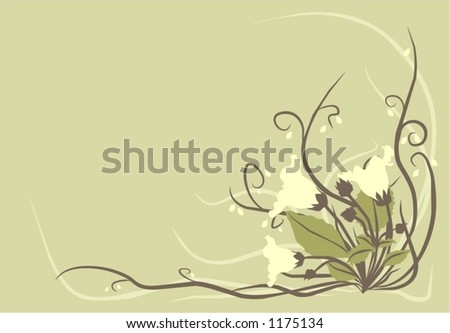 Decorative flowers background - stock vector