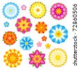 Decorative flowers set. Vector EPS8. - stock vector