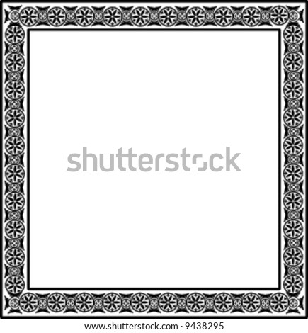 decorative frame - stock vector