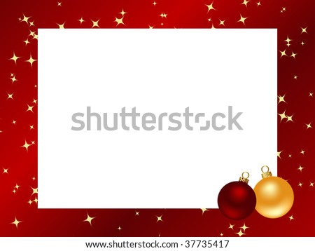 Decorative frame. Red ornamental christmas frame. Vector illustration.
