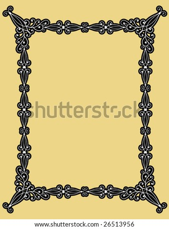 Decorative frame, vector - stock vector