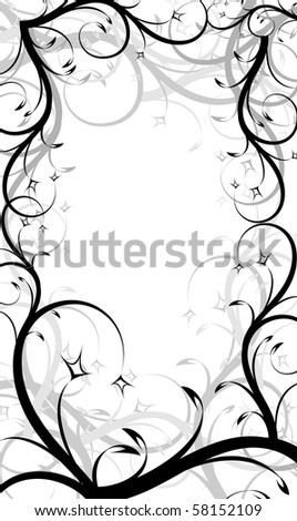 Decorative frame. Vector - stock vector