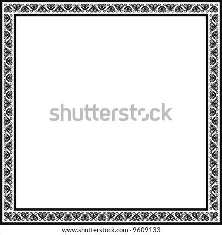 decorative frame, vector - stock vector