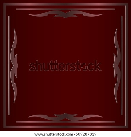 Decorative frame Vector illustration of a stylized old, ornate Victorian picture
